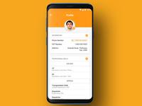 Profile view | UI UX