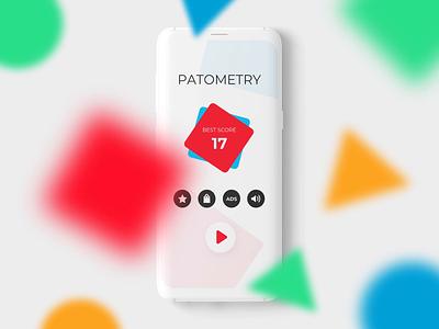 Patometry Game Design gamification bright colors animation 2d animation shape animation white space shapes ux ui app ui simplistic simple design colorful flat design game design