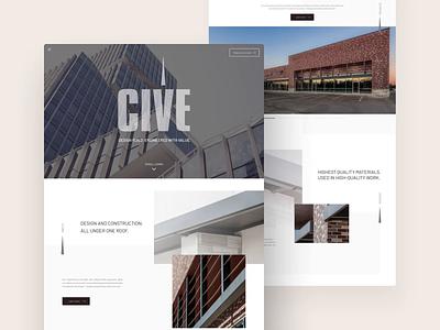 Construction Company Website Design white background light architectural architecture animation responsive design web design clean ui ux ui user experience user interface design website