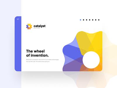 Catalyst Solutions Website ux design ui design ui  ux colorful brand brand identity brand design webdesign website web illustration illustrations icon vector logo branding design ux ui