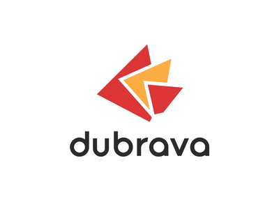 Dubrava Logo Design animation design logo vector bright colors colorful light red yellow shapes brand agriculture orange redesign branding brand design visual identity simple logo logo and branding geometic