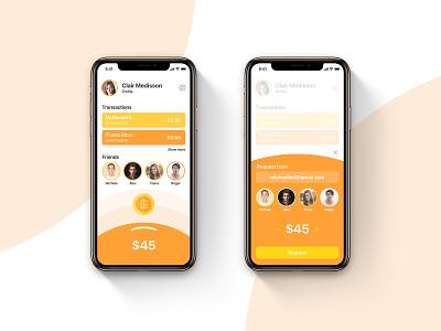 Wallet App For Kids gamification intuitive bright colors orange wallet app kids app ux design ui design app ui