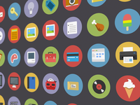 Flatties - Vector icon set