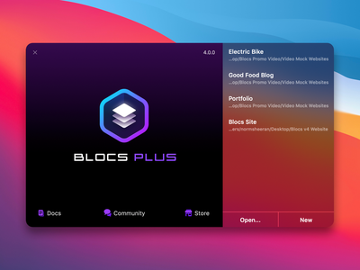 Blocs V4 Splash Screen icon webdesign web nocode app