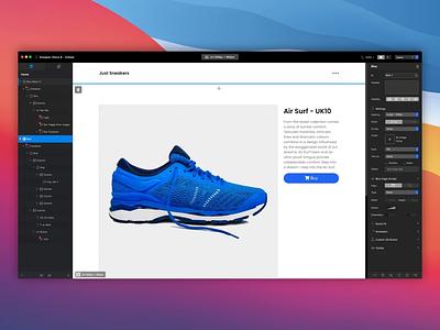 Blocs - E-commerce Integration web design website builder app mac ux ui shop ecommerce
