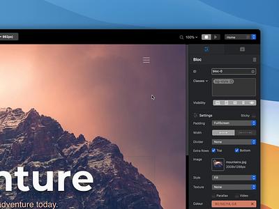 Blocs - Blend Modes builder website app mac ux ui mode blend