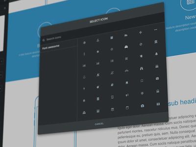 Icon modal - Mac app