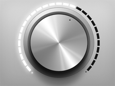 SImple Dial lights metal element dial volume clean modern user interface gui ui web