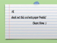Notepaper Free PSD