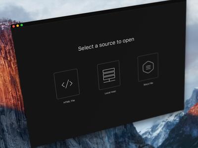 App Start Screen