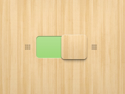 Wood Slider wood ui user interface gui switch hand made