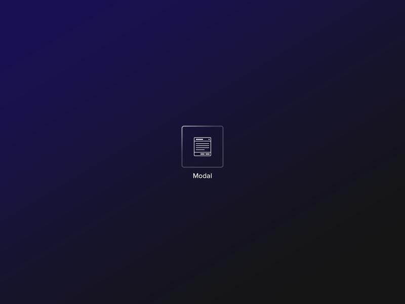 Modal Bric icon ui app mac design web
