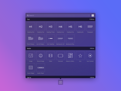 Blocs 3.2 - New Bric Bar UI