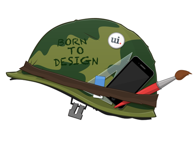Born To Design bundle design ui parade gui helmet full metal jacket movie cool army brush branding