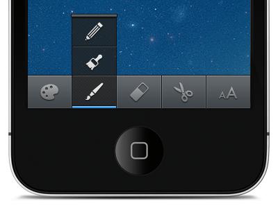 Push Up Menu ios menu glyphs simple bar push up clean user interface