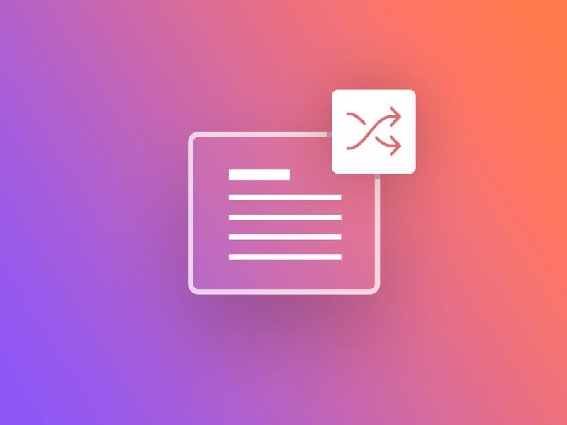 Blocs - Random Text Component randomize random design web icon