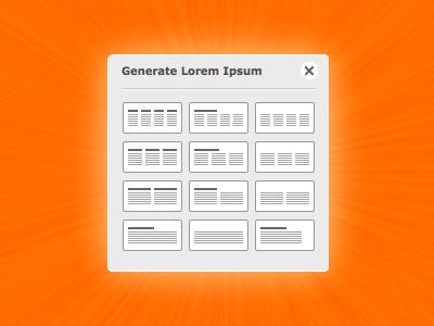Lorem ipsum generator