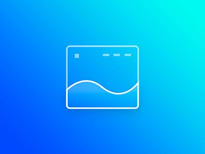 Wave Bric Website Component - Blocs waves nocode icon design web