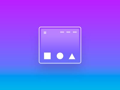 Shape Bric Website Component - Blocs icon nocode design web