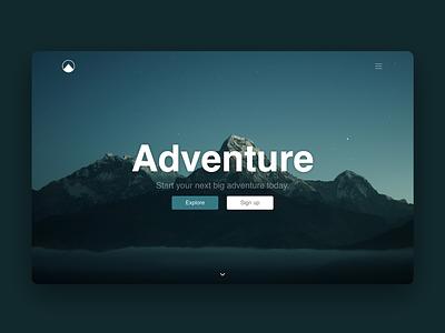 Adventure Bloc website ui typography interface web design