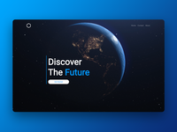 Discover Bloc website earth space ui web design