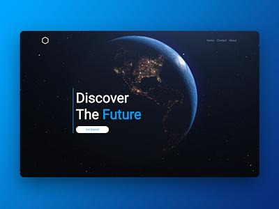 Discover Bloc website earth space ui web design