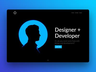Portfolio Hero Bloc web mac coded webdesigner design gui ui webdesign