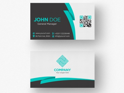 Simple Double Sided Business Card design business card design business card illustration branding