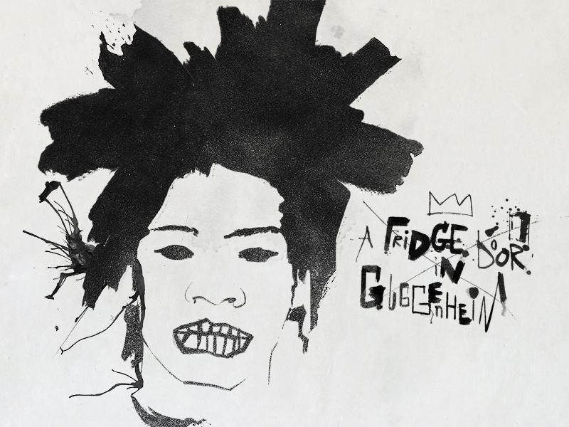 Basquiat basquiat lettering expressive illustration typography ink brush