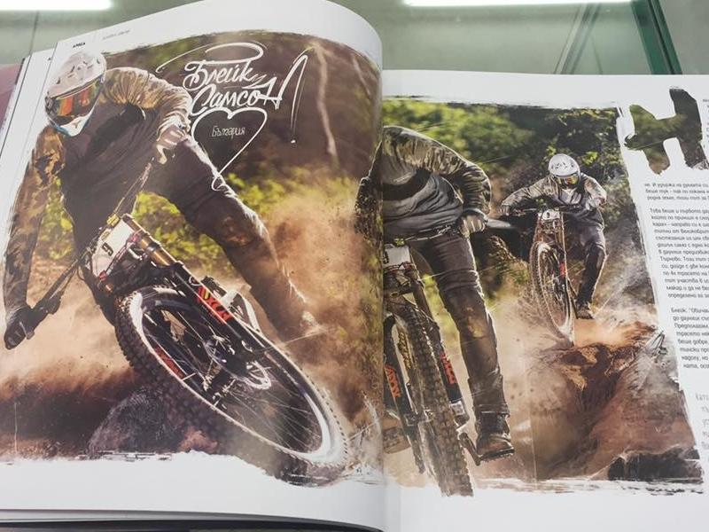 Blake Samson @ 360mag.bg editorial layout design  bulgaria animation illustration magazine editorial graphic design sport extreme mtb bike blake samson