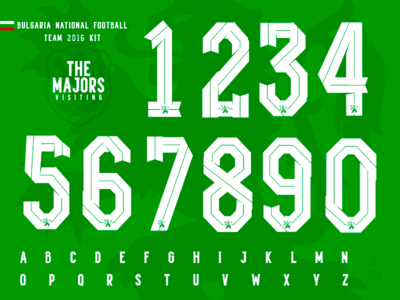 The Majors / Bulgaria National football team kit feature behance typography numbers font bulgaria sport kit soccer football