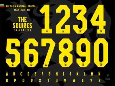 The Keepers / Bulgaria National football team kit feature behance typography numbers font bulgaria sport kit soccer football