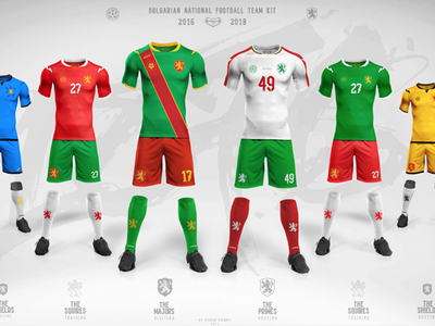 Bulgarian National Football team kit feature behance typography numbers font bulgaria sport kit soccer football