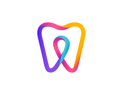 Dental Checkin logo travel dental pointer check tooth corporate logo identity branding