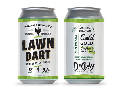 ⤐ Lawn Dart ⬷ beer bottle beer label beer can pilsener pilsner beer lawn dart