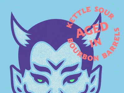 Ψ Art board Stuff ↝ craft beer beer illustration lucifer satan bourbon devil