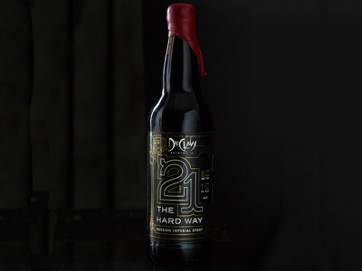 21 The Hard Way || Russian Imperial Stout barrel bourbon handle tap taproom brewery craft ale imperial stout gold beer