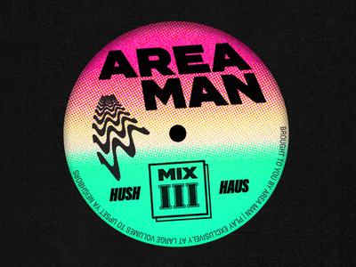 Area Man vinyl rave house music sleeve art record