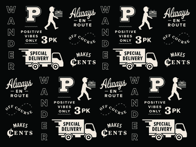 Paperboi Pattern repeating paperboy truck pattern