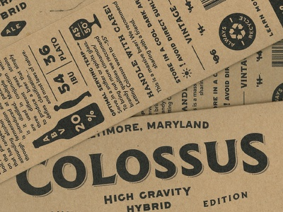 Colossus barrel bourbon tap taproom logo brewery craft ale imperial stout gold beer