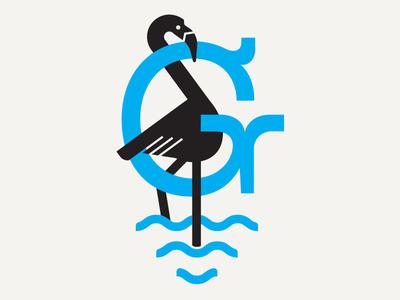 flamingo g seagull herring monogram g bird flamingo