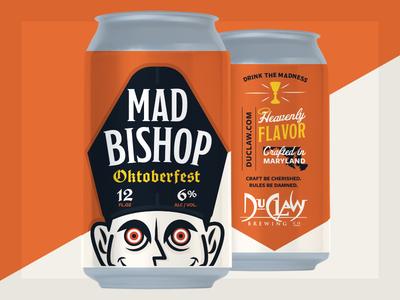Mad Bishop oktoberfest india pale ale script sign craft beer motueka dry hopped hops beer