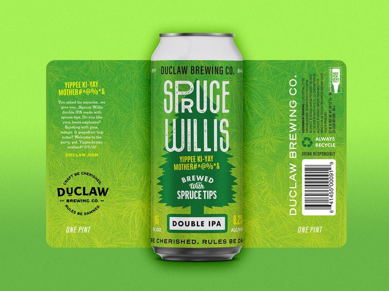 Spruuuuce label design beer label india pale ale ipa craft beer spruce beer