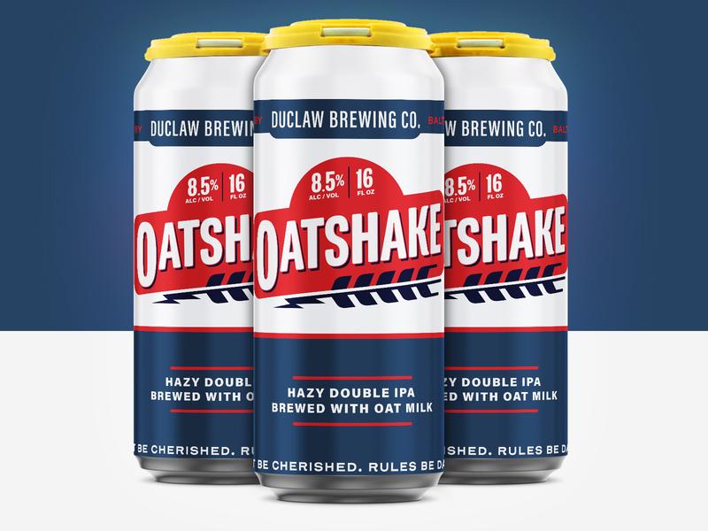 Oatshake malt oat shake oats beer label branding ipa design logo hops illustration craft beer beer