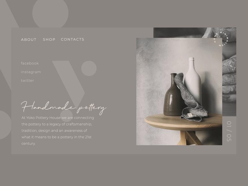 Handmade Pottery Website minimalist decor home ui website pottery handmade