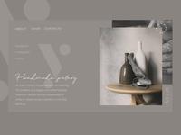 Handmade Pottery Website