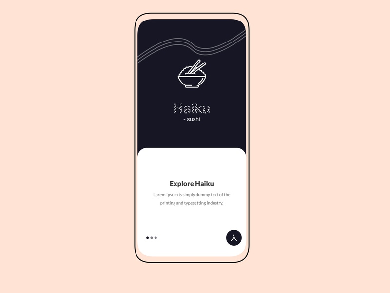 Haiku - Sushi Mobile App ios app mobile design design mobile app mobile ux mobile ui