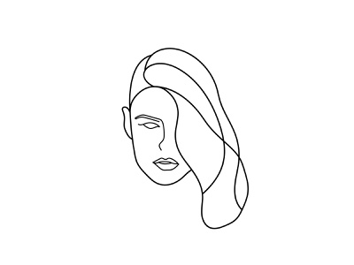 Women Lineart Logo Illustration women head girl minimal vectorart sketchbook sketch lineart woman illustration woman drawing draw branding