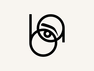 BA Brow Styling Studio minimal spa mark logo mark branding logo design eye beauty studio stying brow