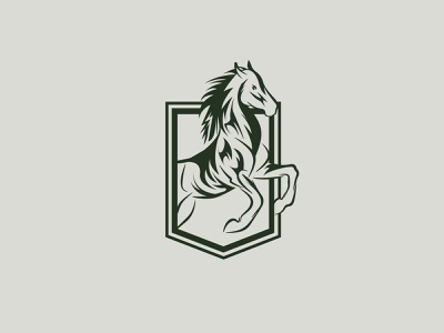Prancing Horse Logo Mark & Illustration Design Concept sketch illustration emblem cool symbol horse racing minimalist prancing horse logo design branding mark logo mark horse